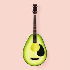 WEBSTA @ paulfuentes_design - Avocado Guitar #avocado #guitar #mexico #music #picame #art #guacamole #photography #color #stilllife #minimal #popart #mashup #photoshop #digitalart #surreal #pop #artwork #arts_gallery #arts_help #collage #thedesigntip #thednalife #creative