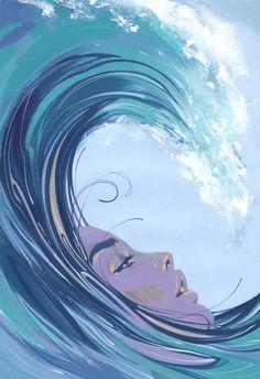 Apres Moi Le Deluge – Fine Art Print by Jonny Ruzzo – Best Painting Art Sketches, Art Drawings, Wave Art, Surf Art, Art Inspo, Amazing Art, Watercolor Art, Fantasy Art, Cool Art