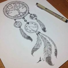 http://tattoocollection.org/dreamcatcher-tattoo-design/