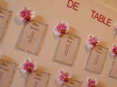 plan de table strass et orchidées : Décorations murales par dsdwedding