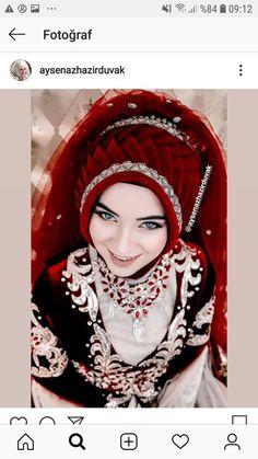 Hajib Fashion, Muslim Fashion, Muslim Wedding Dresses, White Wedding Dresses, Dress Wedding, Beautiful Hijab, Beautiful Dresses, Marriage Dress, Hijab Bride