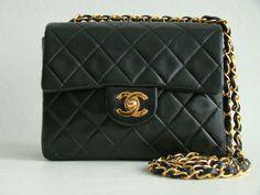 Chanel Vintage Black Lambskin Mini Flap Bag