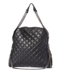 Look what I found on #zulily! Black Quilted Tote by Steve Madden #zulilyfinds