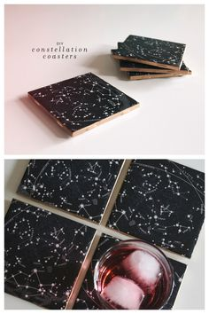 """diychristmascrafts: """" DIY Constellation Tile Coaster Tutorial from Almost Makes Perfect here. You can use the really cheap tiles from Lowes or Home Depot which I believe are around $.30. """""""