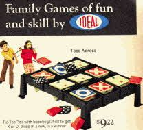 Toss Across Tic Tac Toe Game from the 70's