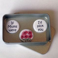 Mum Mom Mothers Day Card Alternative If Mums Were Flowers Gifts For Mum, Cute Gifts, Best Gifts, Jar Of Notes, Tin Gifts, Mothers Day Crafts, Red Flowers, Homemade Gifts, Christmas Gifts