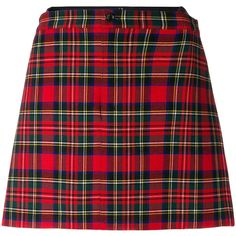 Junya Watanabe Comme Des Garçons tartan short skirt (540 BGN) ❤ liked on Polyvore featuring skirts, bottoms, plaid, red, tartan miniskirts, tartan mini skirts, short mini skirts, plaid miniskirts and red mini skirt
