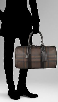 Smoked Check Holdall   Burberry