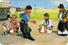 Photoshop, Cartoon, Painting, Folklore, Western Art, Old Art, Frases, Country Man, Spanish Art