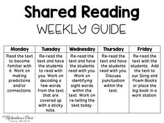 A Glimpse at Shared Reading and a Facebook FREEBIE - Mrs. Richardson's Class
