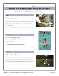 Free, Printable Drawing Conclusions Worksheet Activity for Middle School - bookmarking these!