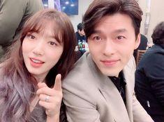 Park Shin Hye Posts Cheerful Selfies with Memories of Alhambra Cast at Wrap Party Park Shin Hye, Korean Actresses, Korean Actors, Korean Dramas, Mature Couples, Hyun Bin, Kdrama Actors, Drama Korea, Ji Chang Wook