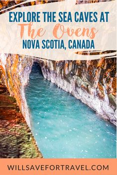Ready to check out the sea caves at The Ovens Natural Park on the south shore of Nova Scotia? East Coast Travel, East Coast Road Trip, Singapore Sling, Design Hotel, Dream Vacations, Vacation Spots, Vacation Trips, Miami Beach, Nova Scotia Travel