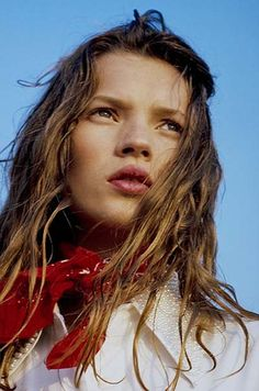 """Colour Me August"": Kate Moss by Jurgen Osterhild for Sky Magazine, September 1991 (outtake)"