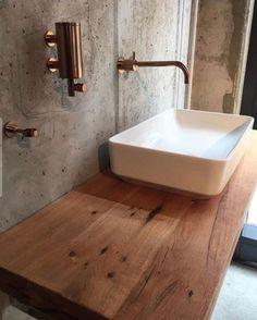 Waschtischplatte Aus Holz / Waschtisch Aus Eichenholz Altholz /  Waschtischkonsole / Holzplatte Im Bad / Badezimmer / Waschbecken /  Holzbrett Für Waschbecken ...