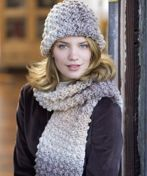 Free and eash crochet bobble hat and scarf pattern.