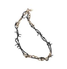 Burberry leather barbed wire necklace
