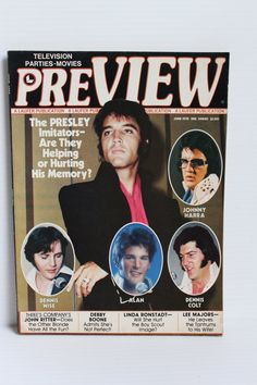 ELVIS PRESLEY Preview Magazine, 1978 Vintage Paper Ephemera, features John Ritter, Debby Boone, Linda Ronstadt, Vintage Elvis publication