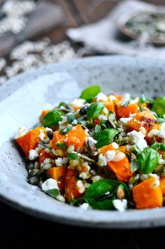 Nem salat med græskar og perlebyg