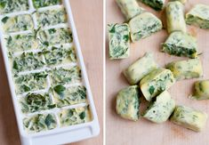 Chop fresh herbs, top with olive oil and freeze in ice cube trays Living Well: 10 Secrets (Actually, Shortcuts!) For Better Cooking