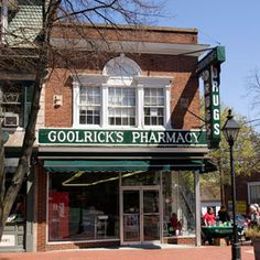 Goolrick's Pharmacy in Fredericksburg, Virginia---the oldest continously operated soda fountain in the U.S.