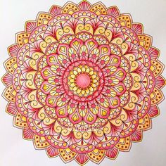 gorgeous colored mandala #art #zentangle #journaling