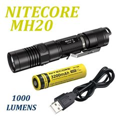 Nitecore MH20 Flashlight 1000 lumens