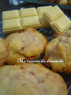 Cookies framboises chocolat blanc