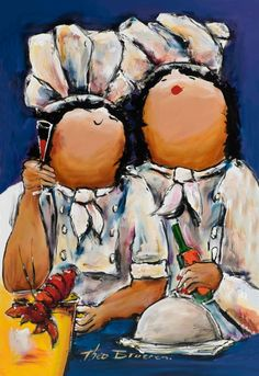 Afbeeldingsresultaat voor dikke dames schilderij zwart wit