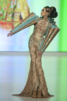Guo Pei A model showcases designs by Guo Pei of China on the catwalk during the HK Fashion Extravaganza 2010 show as part of the  Hong Kong ...