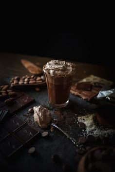 Melted Hot Chocolate With Sea Salt Whipped Cream - Adventures in Cooking