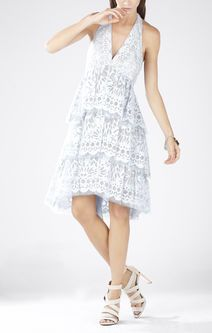 Jessika Tiered Halter Dress