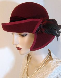Split Brimmed Cloche by Orsini~Medici Couture Millinery on Etsy. Head Wraps For Women, Hats For Women, Sombreros Cloche, Hair Wrap Scarf, Hat Blocks, Wide Brimmed Hats, Costume Hats, Stylish Hats, Vintage Brooches