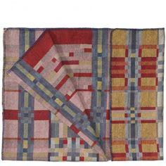 Wolldecke - Rot/Orange Musterhafte Decken aus Wolle von Studio Roderick Vos