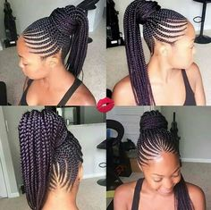 Love the style and the color on these braids baltimorebraider glowbyguchymakeover on hairbynika cornrows braids voiceofhair GORGEOUS! Ghana Braids Hairstyles, African Hairstyles, Ponytail Hairstyles, Cool Hairstyles, Braids Cornrows, Hairstyle Braid, Plaits, Hairstyle Ideas, Natural Hair Styles