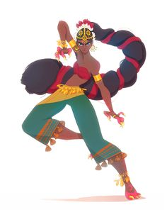 Here's a badass indian dancer :> for the character design challenge - Claire Magnier