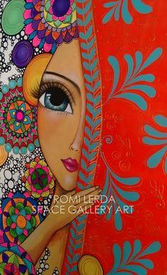 Romi Lerda Art Kunstjournal Inspiration, Art Journal Inspiration, Art Pop, Alcohol Ink Art, Naive Art, Whimsical Art, Fabric Painting, Beautiful Paintings, Oeuvre D'art