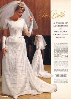 The Bride: A Vision of Loveliness (Touch of Retro) Tags: wedding woman white fashion vintage bride veil dress catalog sixties 1964 Bridal Skirts, Bridal Gowns, Wedding Gowns, Vintage Wedding Photos, Vintage Bridal, 1960s Wedding, Vintage Weddings, Mod Wedding, Vestidos Vintage