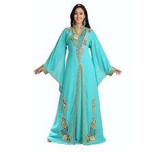 MOROCCAN KAFTAN DUBAI FANCY ARABIC DRESS WEDDING GOWN ROYAL WOMEN CLOTHING