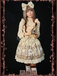 Classic Single-Breasted Ruffles Cotton Lolita Skirts - Milanoo.com