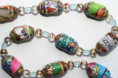 UPCYCLED:  The CRUNCH BERRIES Paper Bead Necklace