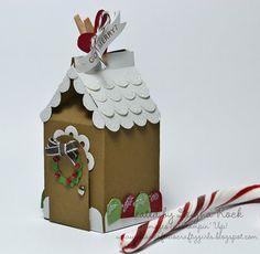 Such a cute idea for an imitation Gingerbread house