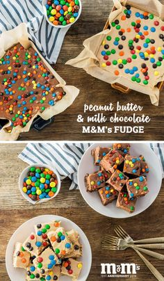 What do you get when you combine smooth and creamy melted chocolate, nutty peanut butter, and colorful chocolate coated candies into one amazingly easy sweet treat? This recipe for Peanut Butter and Milk Chocolate M&M's Fudge! Find everything you need to make your own batch of this special celebration homemade dessert at your local Kroger.