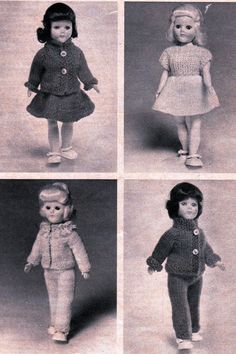 Vintage Fashion Doll Clothes Knitting by LoveFromNewZealand