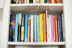 Day 14 of the 31 Day Purge - Purging Books via A Bowl Full of Lemons #purgingclutter #declutter #bookorganization