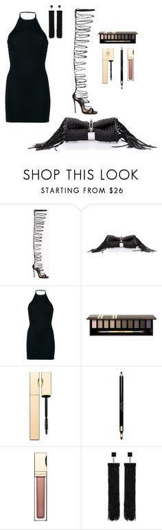 """roof"" by esposito-alicya on Polyvore featuring Dsquared2, Balenciaga, Balmain, Clarins and Tom Ford"