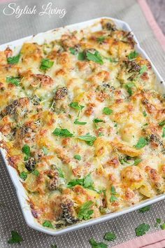 Kartoffel-Gemüse-Auflauf mit Käse und Schinken