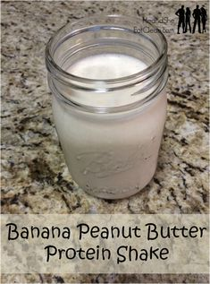 This is the best protein shake EVER! The combination of banana and peanut butter is amazing! For more healthy recipes visit HeandSheEatClean.com. #eatclean #heandsheeatclean #healthy #diet #cleaneating #proteinshake #recipe