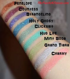 Sugar Pill Swatch Loose Glitter Eyeshadows with REVIEW!