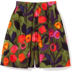 Painted Tulip Pleated Short | Moda Operandi ($1,295) ❤ liked on Polyvore featuring shorts, high rise shorts, short shorts, high waisted short shorts, high waisted shorts and tulip shorts